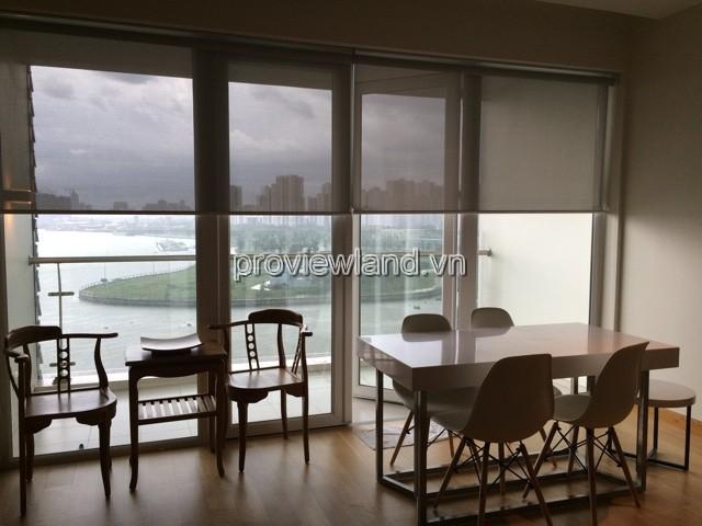 Căn hộ Đảo Kim Cương cho thuê DT 98m2 2PN view sông trực diện nội thất đầy đủ