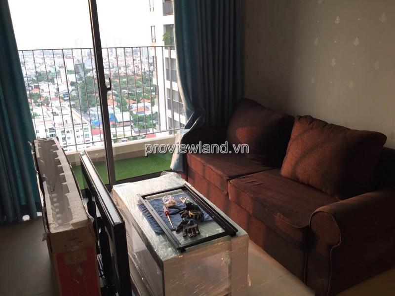 Cho thuê căn hộ Masteri tầng cao tháp T4 DT 59.94m2 2PN đầy đủ nội thất