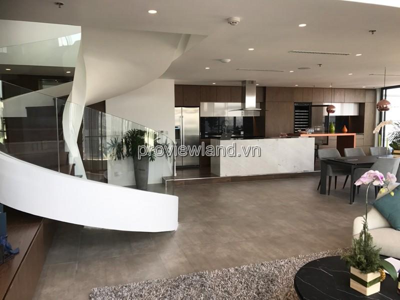 Cho thuê căn Penthouse City Garden 2 tầng DT 300m2 2PN 1 phòng chiếu phim