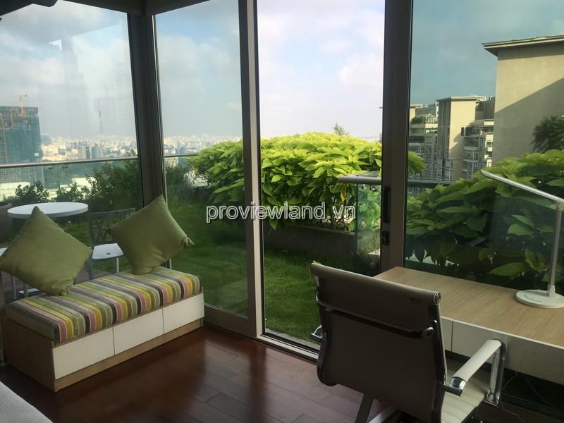 Cho thuê căn Duplex 3 tầng Sài Gòn Pearl DT 450m2 5PN view sông nội thất cao cấp