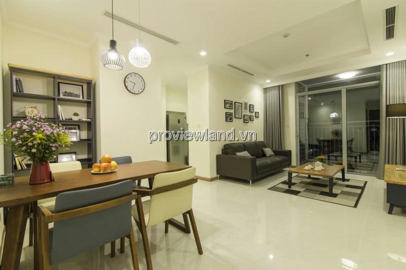 Cho thuê căn hộ Vinhomes Central Park tầng cao tháp L3 2PN view sông