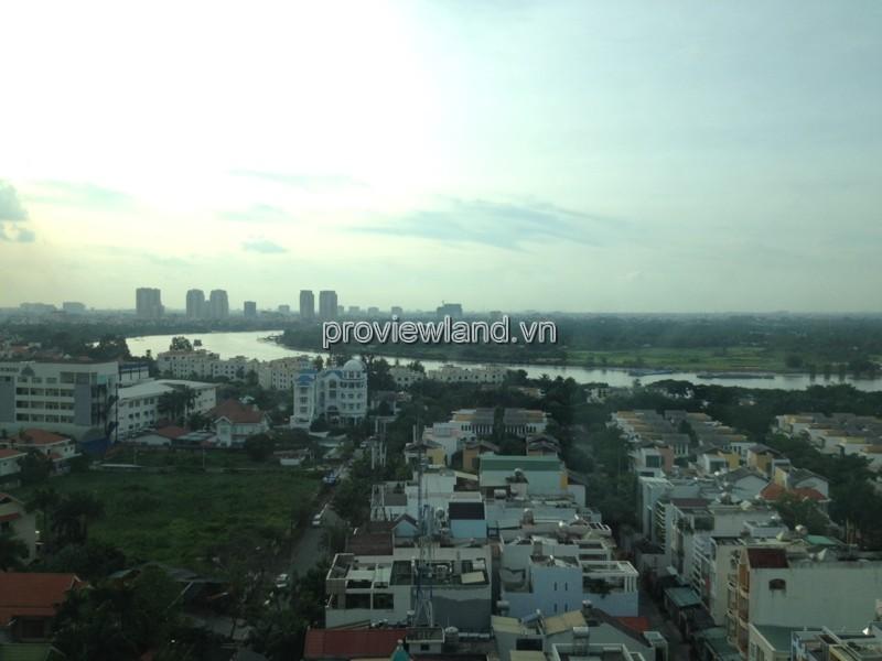 Căn hộ Vista cho thuê có DT 142m2 3PN view sông tháp T5
