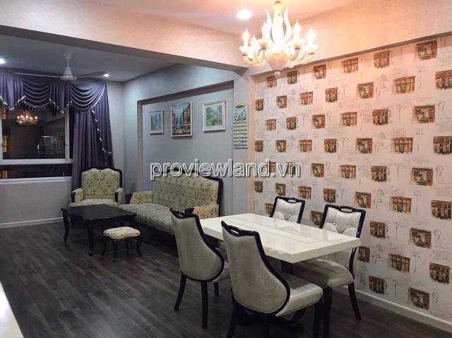 Cho thuê căn hộ Tropic Garden tầng 25 view sông DT 81m2 2PN full nội thất