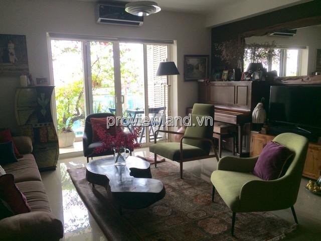 Cho thuê căn hộ River Garden Quận 2 140m2 3PN tháp B tầng thấp full nội thất