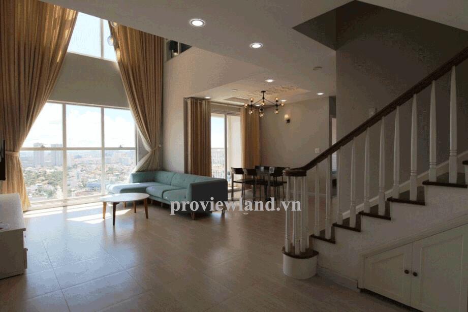 Cho thuê căn Penthouse Tropic Garden tầng 26 DT 220m2 3PN đầy đủ nội thất