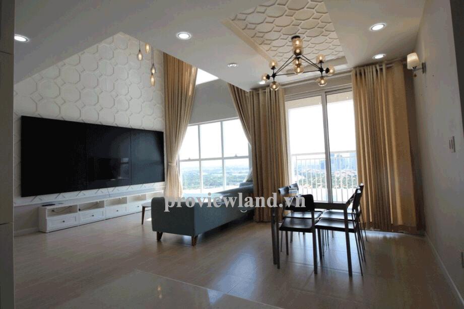 Căn Penthouse Tropic tầng 26 DT 220m2 3PN view sông đầy đủ nội thất
