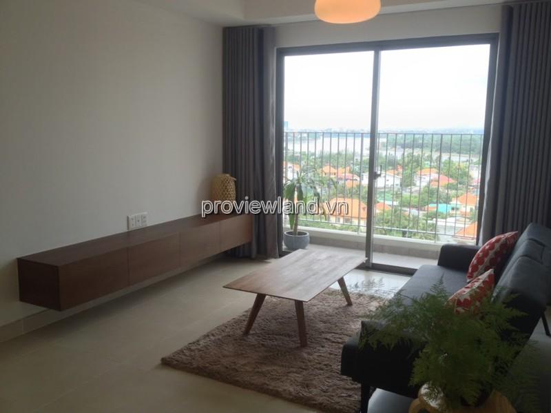 Cho thuê căn hộ Masteri tầng cao tháp T4 diện tích 69m2 2Pn view sông và Thanh Đa