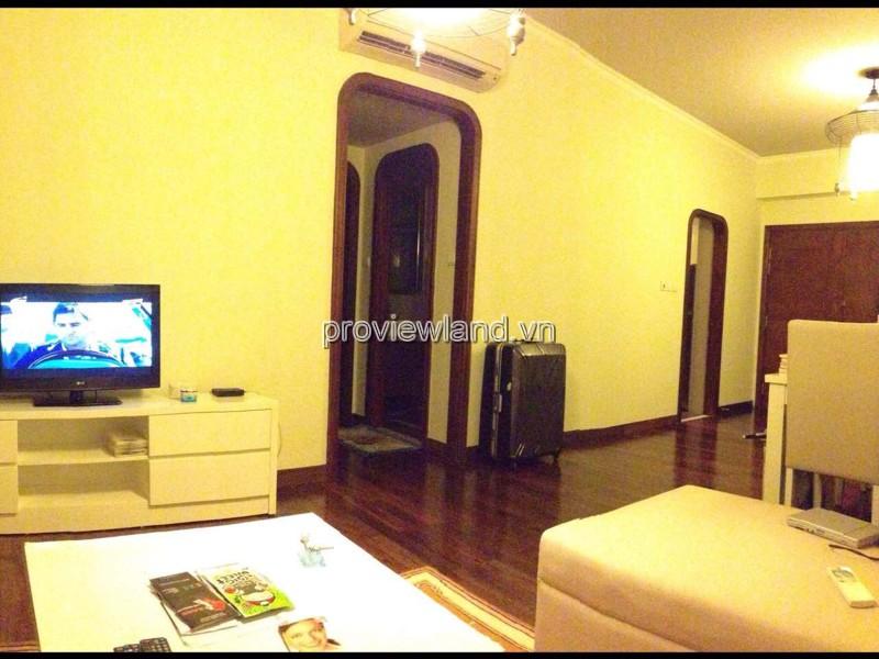 Cho thuê căn hộ Saigon Pearl tầng 14 tháp Ruby 1 DT 100m2 3PN view sông và Quận 1