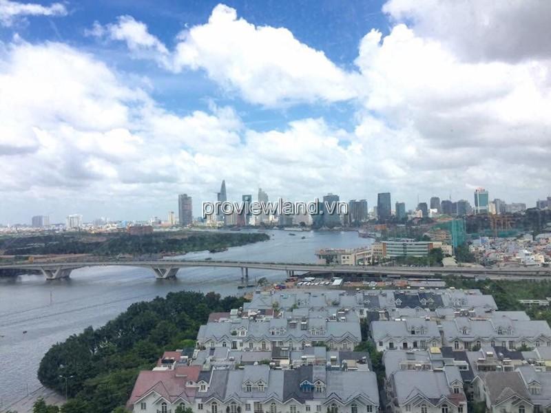 Bán căn hộ Saigon Pearl Quận Bình Thạnh tầng cao view sông DT 100m2 3PN