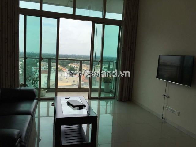 Căn hộ cao cấp The Vista cho thuê tầng thấp tháp T5 view sông 2PN