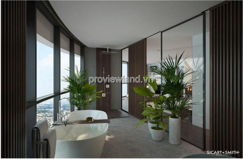 Căn Penthouse 2 tầng dự án City Garden bán cso diện tích 371m2 4PN