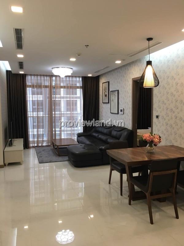 Cho thuê căn hộ Vinhomes Central Park tầng cao 2 phòng ngủ full nội thất