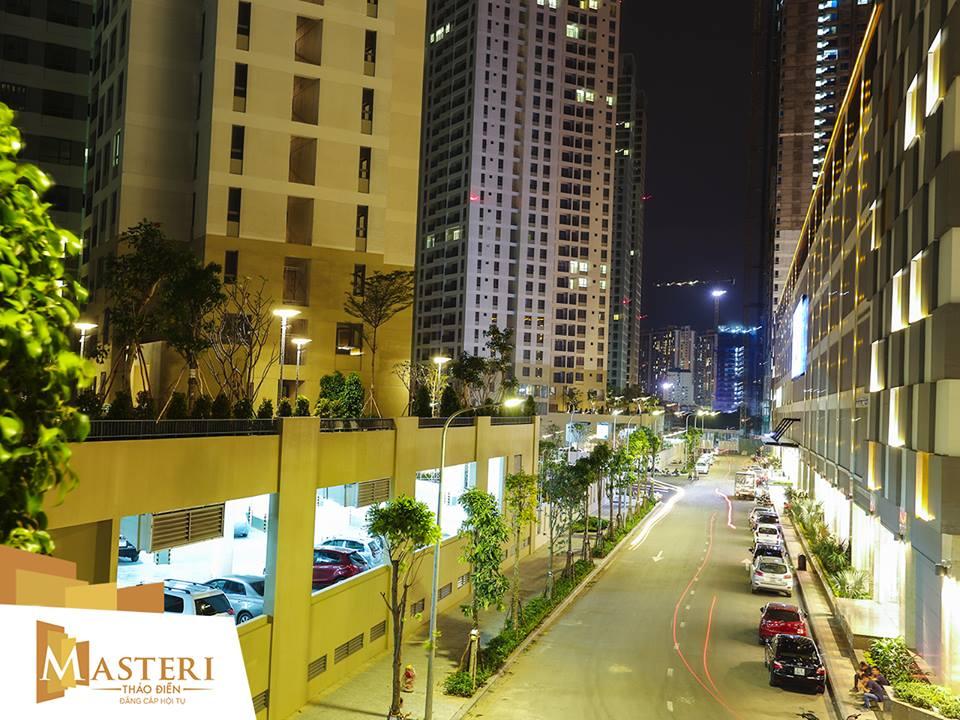 Căn hộ Masteri Thao Dien 1 phòng ngủ diện tích 50m2 tầng cao cho thuê