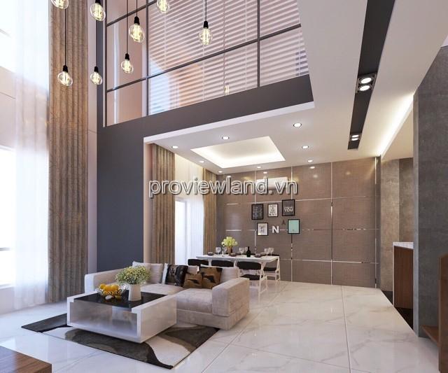 Penthouse Tropic Garden cho thuê lầu 26 view sông 2 tầng 1 sân thường 240m2 4PN