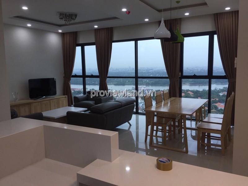 Cho thuê căn hộ The Ascent Quận 2 tầng 23 view sông có diện tích 99m2 3pn