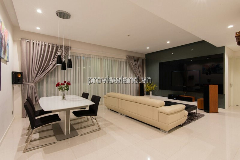 Cho thuê căn hộ Estella Quận 2 tầng 17 Block 3B 145m2 3 phòng ngủ nội thất đầy đủ