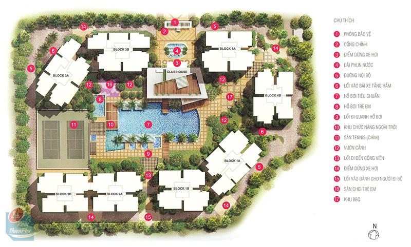 bán căn hộ Estella - mặt bằng dự án