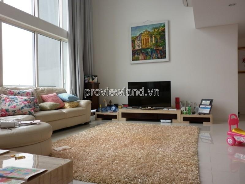 Căn penthouse Estella 2 tầng 3 phòng ngủ diện tích 230m2 view sông và công viên bán