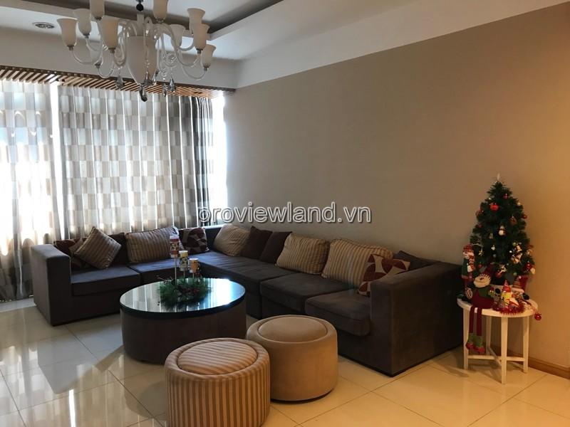 Căn hộ cho thuê Saigon Pearl tháp Sapphire 2 có diện tích 140m2 3 phòng ngủ