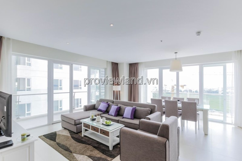 Căn hộ Đảo Kim Cương 2 tầng diện tích 200m2 cho thuê 3 phòng ngủ