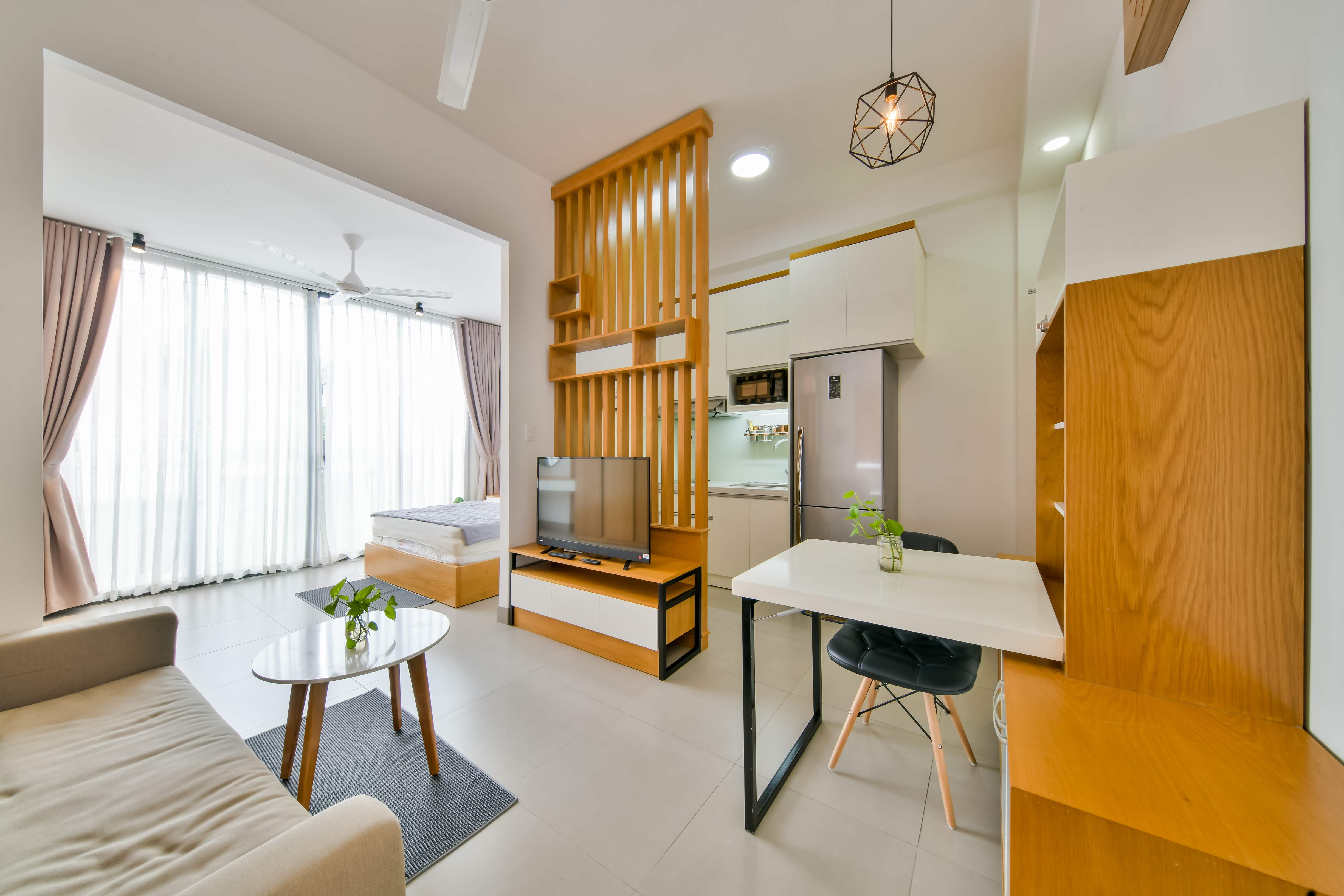Căn hộ dịch vụ tại quận 2 đường số 4 Thảo Điền Căn 3.01 diện tích 40m2 đầy đủ nội thất