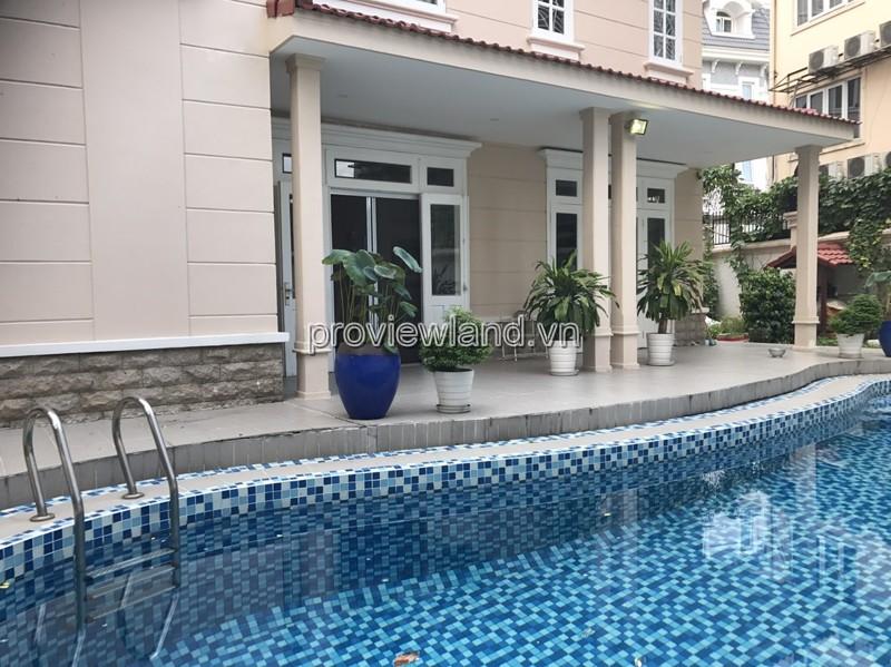 Cho thuê biệt thự Kim Sơn nằm trong khu Compound Thảo Điền diện tích 800m2 5 phòng ngủ