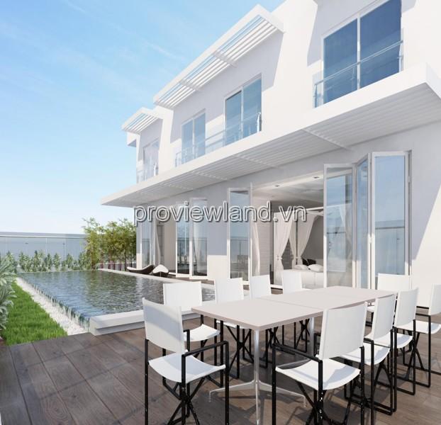 Căn hộ Sky Villa tòa Brilliant Đảo Kim Cương 661m2 2 tầng 5PN ban công view sông