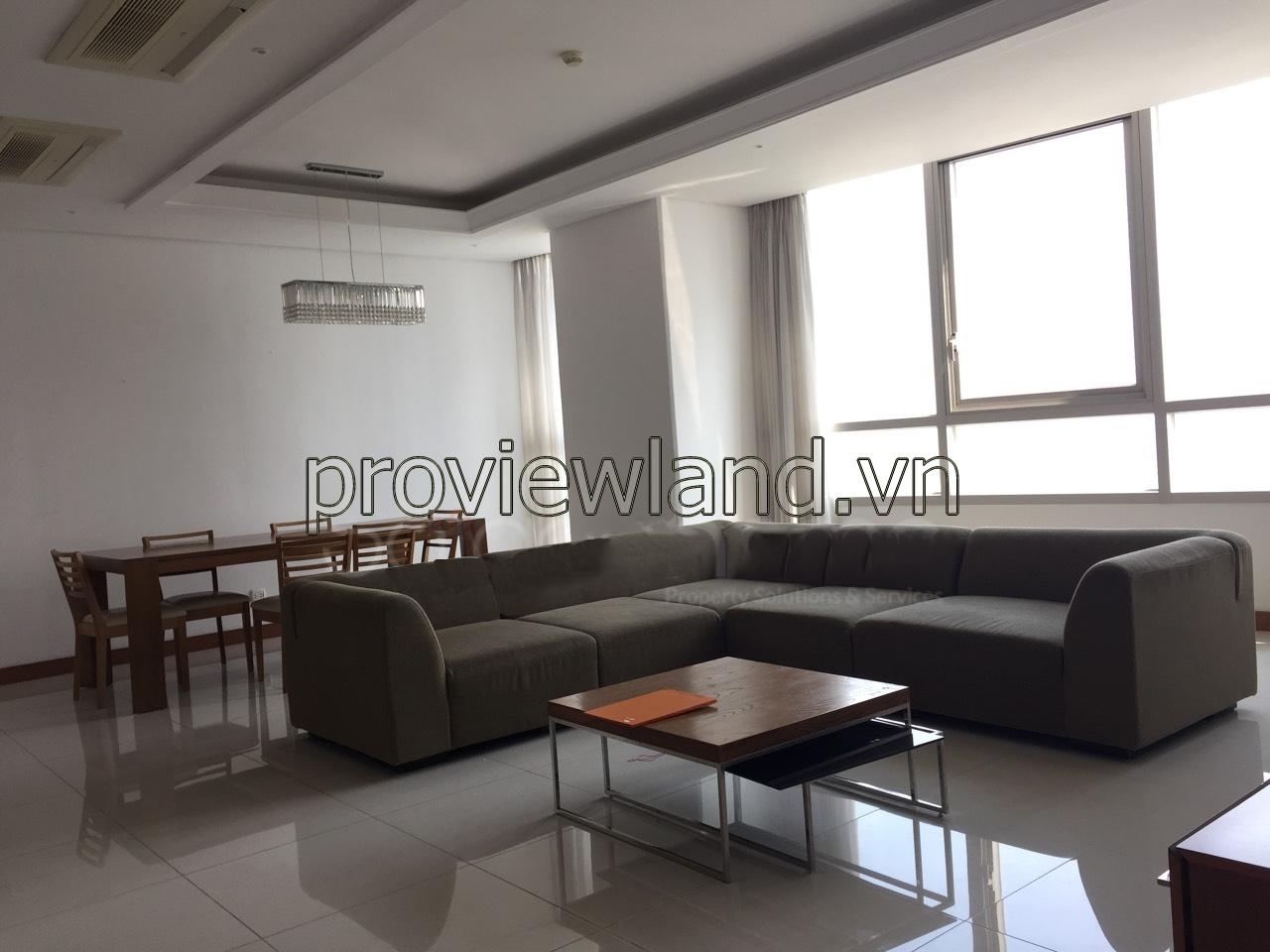 Cho thuê căn hộ Xi Riverview 3 phòng ngủ 185m2 view sông đầy đủ tiện nghi