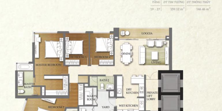 4 Phòng ngủ 4B1 THE NASSIM
