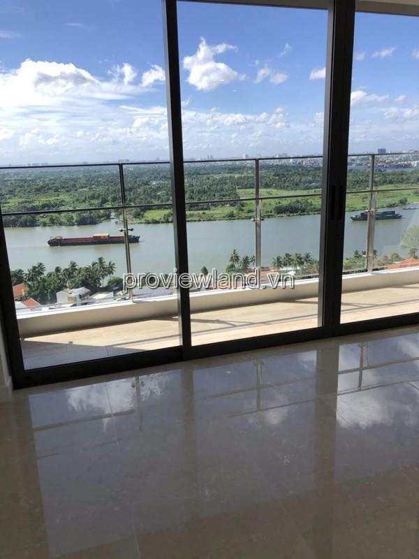 Căn hộ 3 phòng ngủ Nassim Thảo Điền với diện tích 119m2 view trực diện sông cần bán