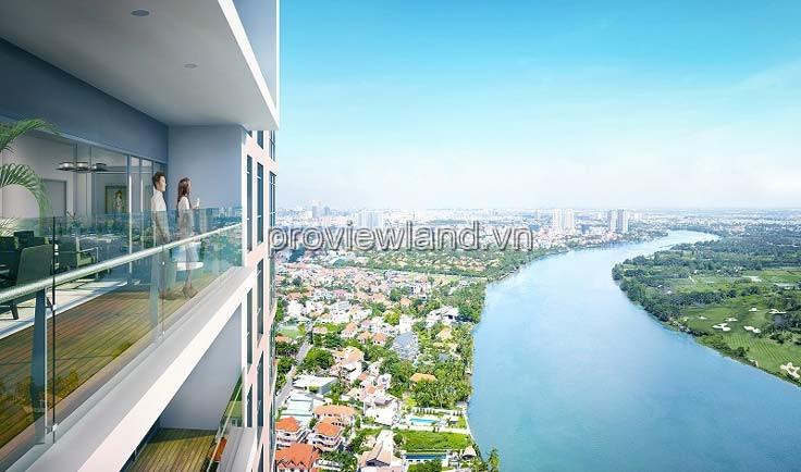 Bán căn hộ 4 phòng ngủ River Garden Quận 2 156m2 có bang công view sông