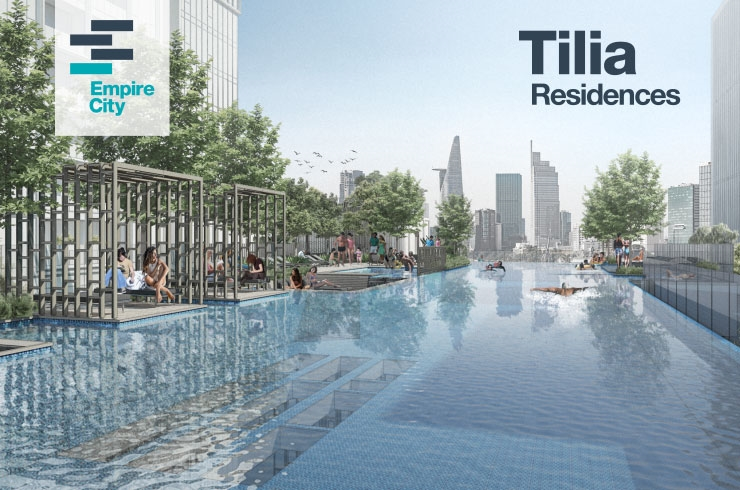 Swimming Pool at Block Tilia Empire City project