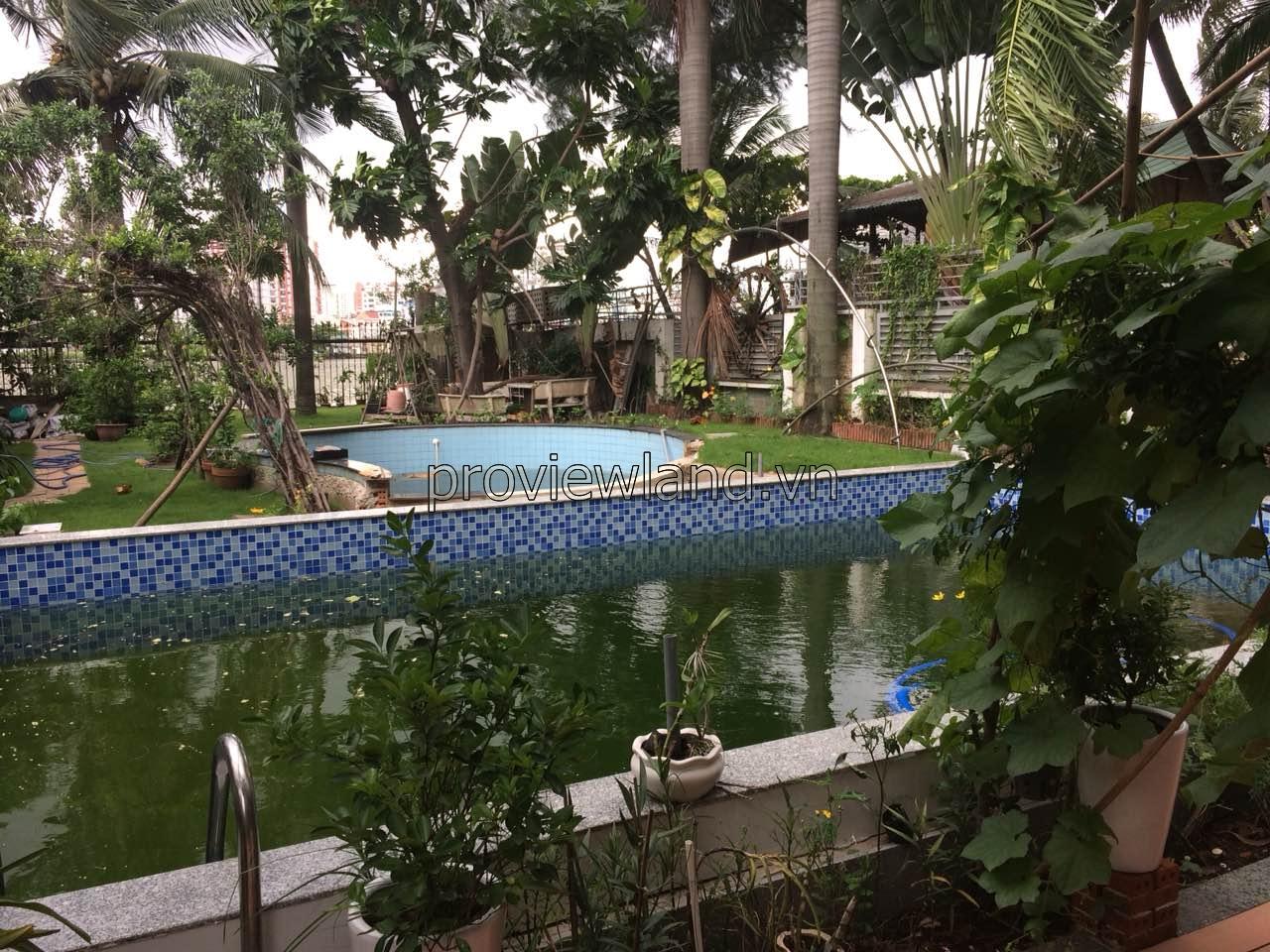 Biệt thự Thảo Điền cần cho thuê 841m2 hồ bơi view sông Sài Gòn