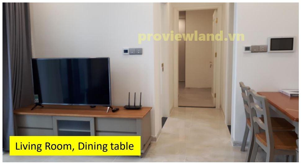 Căn hộ Vinhomes Golden River cho thuê diện tích 72m2 với 2 phòng ngủ view sông