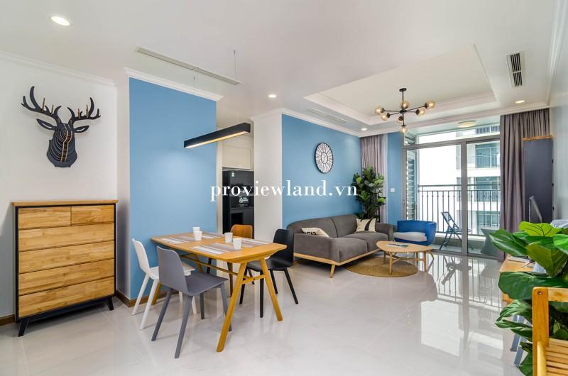 Cho thuê căn hộ dịch vụ Vinhomes Central Park 2 phòng ngủ nội thất cao cấp