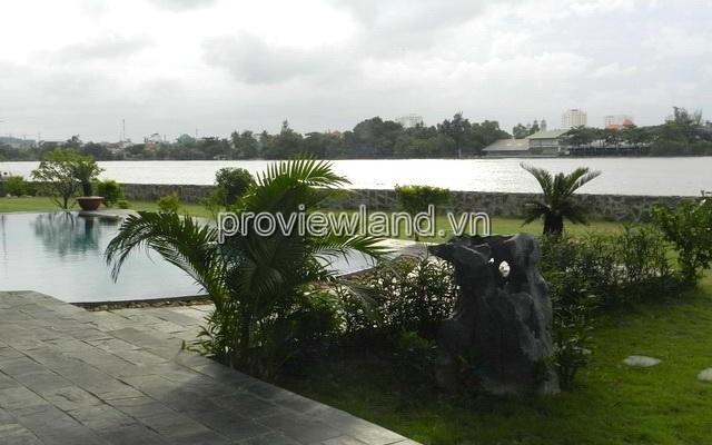 Biệt thự VIP bờ sông Thảo Điền Quận 2 bán 2200m2 đất thổ cư 100% gồm 5 phòng ngủ