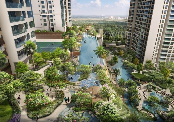 Cho thuê căn hộ cao cấp Estella Heights tại tháp T2 diện tích 104m2 city view