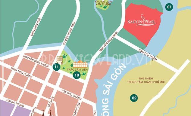 Vị trí căn hộ Saigon Pearl