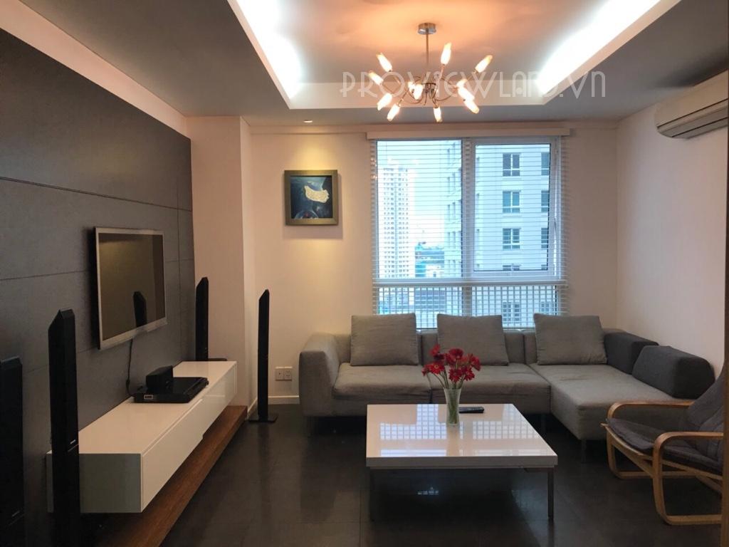Căn hộ The Manor cần cho thuê tại Bình Thạnh gồm 2 phòng ngủ view đẹp