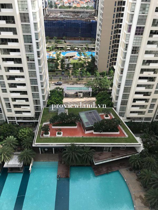 Cho thuê căn hộ The Estella 2 phòng ngủ nội thất cơ bản view hồ bơi
