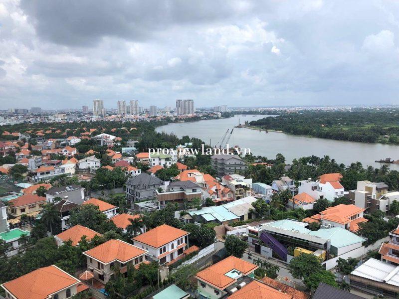 Cho thuê căn hộ Nassim Thảo Điền 4 phòng ngủ diện tích 220m2 view sông