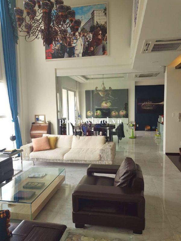 Bán căn hộ Penthouse Tropic Garden diện tích 280m2 4 phòng ngủ full nội thất