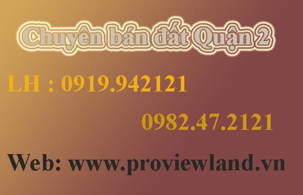 Bán đất 100% thổ cư tại Phường An Phú Quận 2 DT 1000m2 đường rộng 12m
