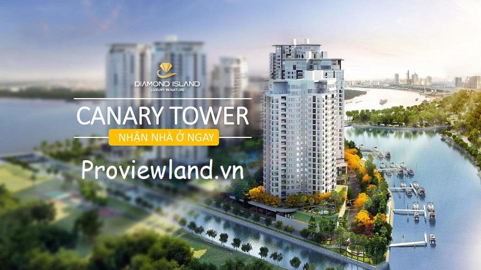 Căn hộ Officetel cần bán 1 phòng ngủ tại Canary tòa tháp cuối cùng của Đảo Kim Cương