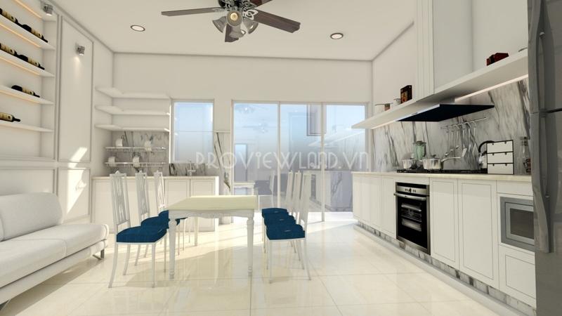 Biệt thự cao cấp Palm Residence Quận 2 cho thuê diện tích 250m2 với 3 phòng ngủ