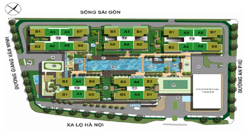 Site plan The Vista - 0986562937