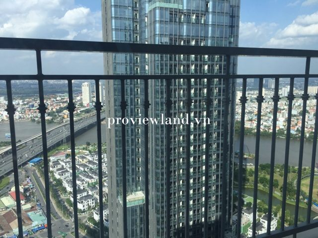 Cho thuê căn hộ Vinhomes Central Park 3 phòng ngủ full nội thất view sông tại Landmark 3