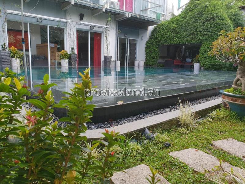 Biệt thự Thảo Điền nằm khu Compound gần sông Sài Gòn 900m2 diện tích 5PN