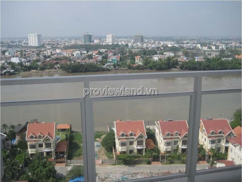 Bán căn hộ River Garden Thảo Điền tầng cao view sông 156m2 4 phòng ngủ