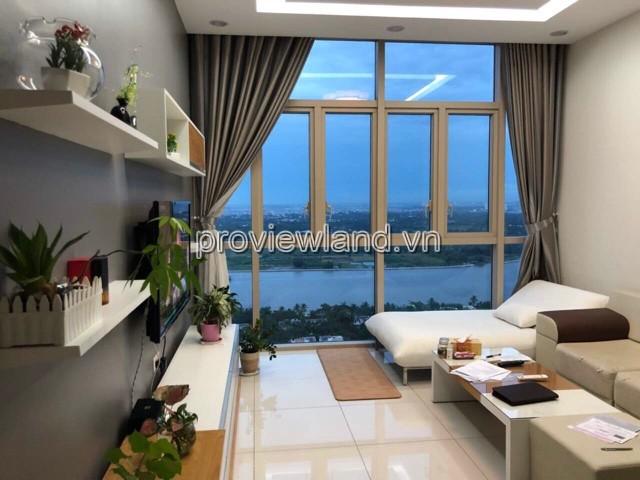 Căn hộ The Vista tầng cao 2 phòng ngủ view sông full nội thất cần cho thuê